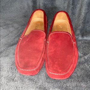 AUTHENTIC PRADA Red Suede Drivers